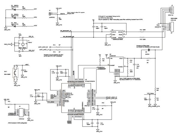 Схема принципиальная электрическая оценочной платы STEVAL-PCC020V1