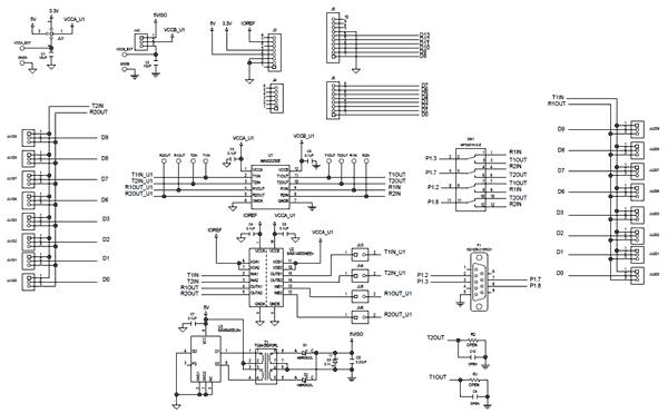 Схема принципиальная электрическая платы MAX33250ESHLD#