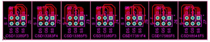 Верхний слой платы CSD1FNCHEVM-889