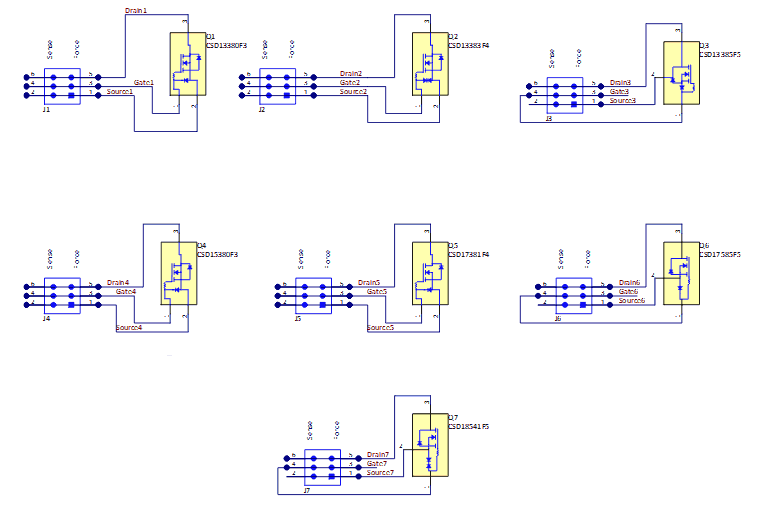 Схема принципиальная электрическая модуля CSD1FNCHEVM-889