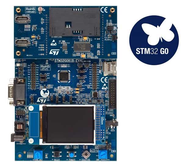 Оценочная плата STM32G081B-EVAL с дочерней платой для устаревшей периферии