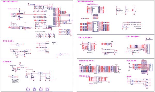 Схема принципиальная электрическая отладочной платы ESP-WROVER-KIT V4.1