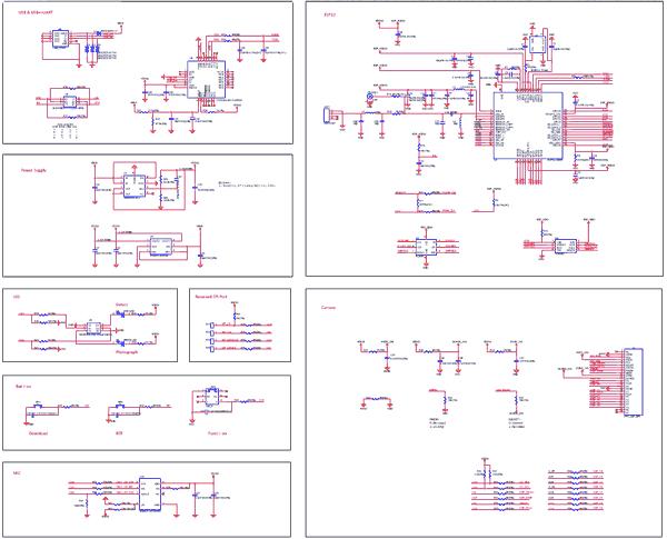 Схема принципиальная электрическая отладочной платы ESP-EYE