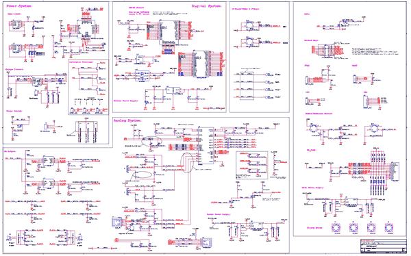 Схема принципиальная электрическая отладочной платы ESP32-LyraT