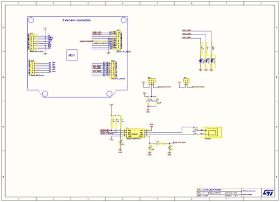 Схема принципиальная электрическая платы расширения X-NUCLEO-NFC02A1