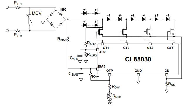 Базовая схема драйвера на основе микросхемы CL88030