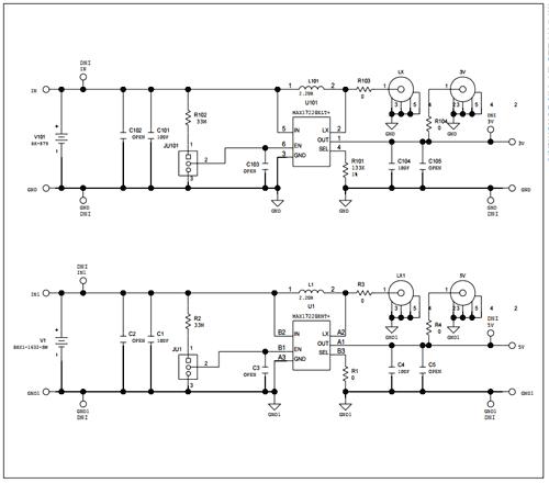 Схема принципиальная электрическая оценочной платы MAX17220EVKIT#