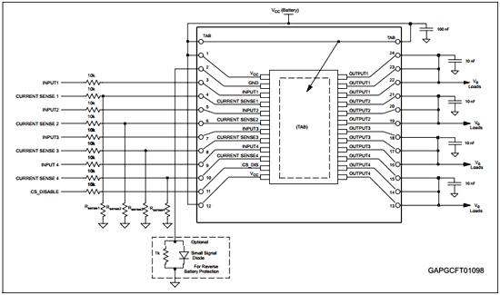 Схема, иллюстрирующая оценочную плату с необходимыми компонентами для работы любых приложений