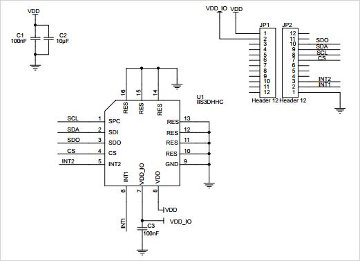 Схема принципиальная электрическая платы STEVAL-MKI186V1