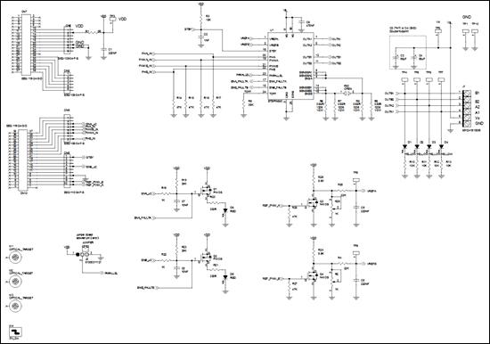 Схема принципиальная электрическая платы расширения X-NUCLEO-IHM15A1