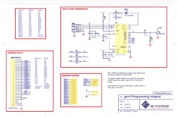 Схема принципиальная электрическая адаптера GEN4-PA