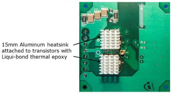 Для использования платы на высоких мощностях установка радиаторов на транзисторы