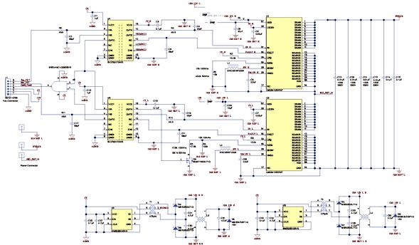 Схема принципиальная электрическая дочерней платы LMG3410-HB-EVM
