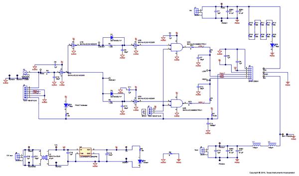 Схема принципиальная электрическая материнской платы LMG34xx-BB-EVM