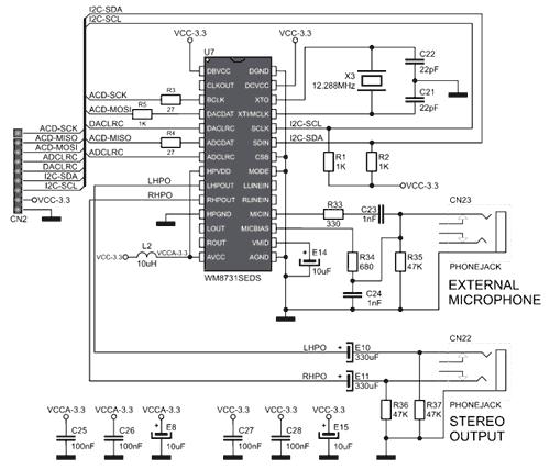 Схема принципиальная электрическая отладочной платы MIKROE-506
