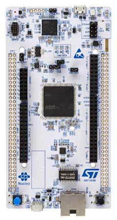 Отладочная плата семейства STM32 NUCLEO-144. Вид сверху