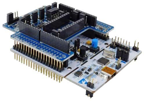Плата X-NUCLEO-IKS01A3 должна быть подключена к соответствующим контактам любой платы STM32 Nucleo с разъемом Arduino UNO R3