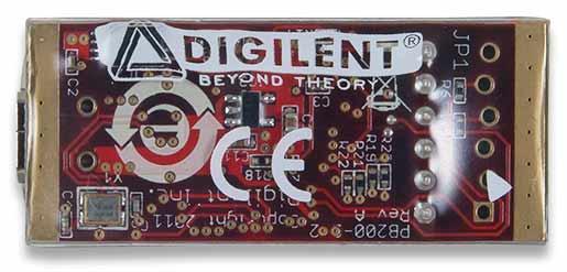 Программатор/отладчик ChipKIT PGM (410-242). Вид снизу.