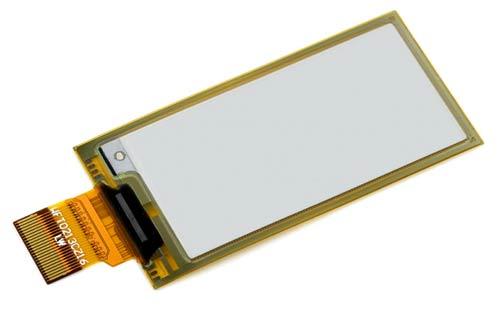 Гибкая дисплейная панель e-Ink с диагональю 2.13 дюйма. Общий вид