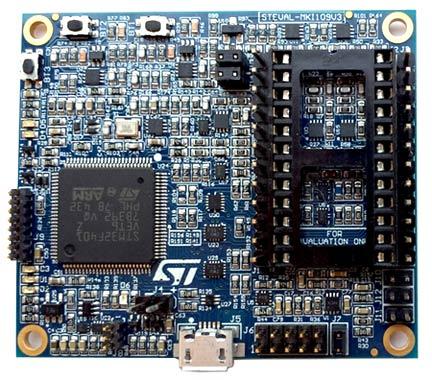 Материнская плата STEVAL-MKI109V3 на основе микроконтроллера STM32F401VET6,