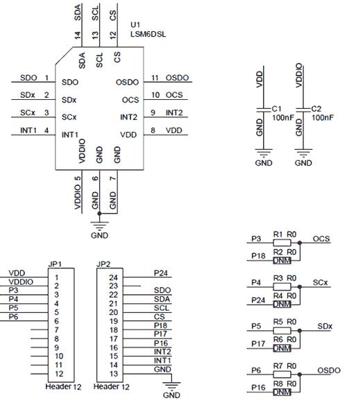 Схема принципиальная электрическая платы STEVAL-MKI178V2