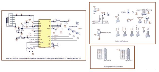 Схема принципиальная электрическая платы BQ25120AEVM