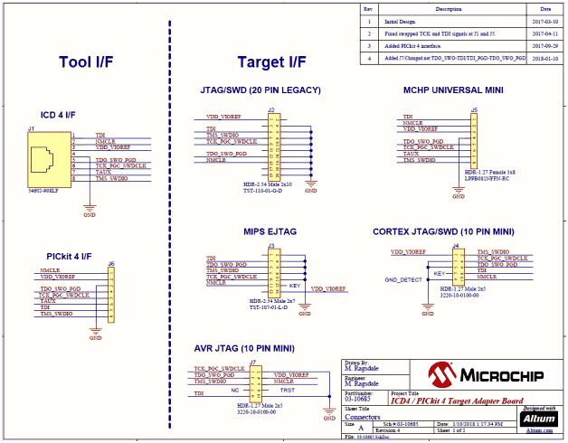 Схема принципиальная электрическая платы AC102016 адаптера отладчика