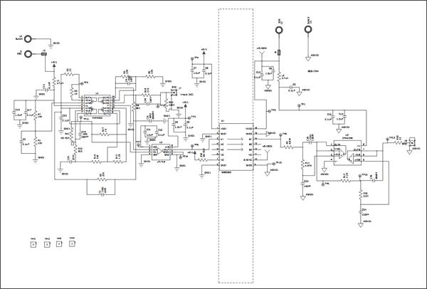 Схема принципиальная электрическая Цепи 1 платы Si86xxIsoLin (Si86xxIsoLin-EB)