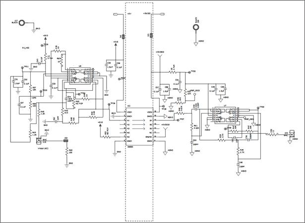 Схема принципиальная электрическая Цепи 3 платы Si86xxIsoLin (Si86xxIsoLin-EB)