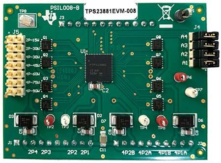 Дочерняя плата на основе микросхемы PoE PSE контроллера питания TPS23881