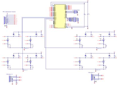 Схема принципиальная электрическая дочерне платы TPS23881EVM-008