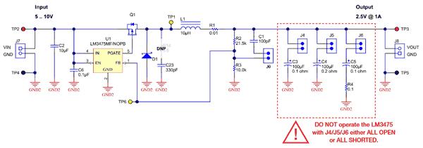 Схема принципиальная электрическая платы TI-PMLK LM3475