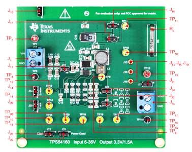 Плата понижающего стабилизатора TI-PMLK TPS54160