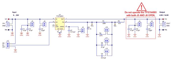 Схема принципиальная электрическая секции TI-PMLK TPS7A4901 LDO стабилизатора