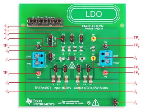 Секция TI-PMLK TPS7A4901 LDO