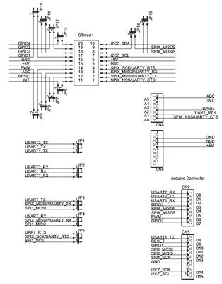 Схема принципиальная электрическая платы X-NUCLEO-STMODA1