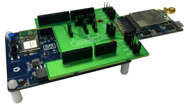 Сотовая LTE плата (модем), установленная с помощью X-NUCLEO-STMODA1