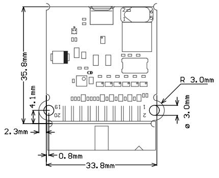 Размеры платы J-Link BASE Compact