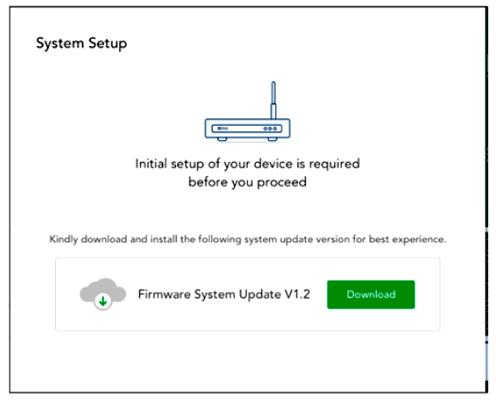 Окно обновления firmware