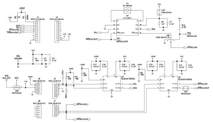 Схема принципиальная электрическая оценочной платы MAX31342SHLD#