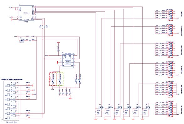 Схема принципиальная электрическая оценочной платы VCNL4035X01-GES-SB