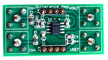 Отделенный от платы DIYAMP-SOIC-EVM участок желаемой конфигурации