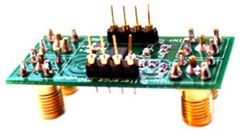 Полностью собранная схемная конфигурация от DIYAMP-SOIC-EVM