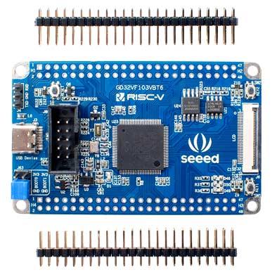 Отладочный плата SeeedStudio GD32 RISC-V Dev Board (102991315). Вид сверху