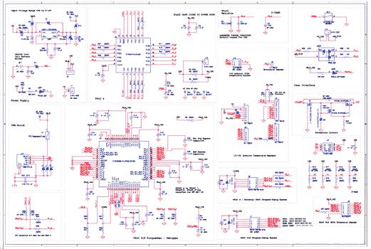 Схема принципиальная электрическая платы CY8CKIT-040 PSoC® 4000 Pioneer Board