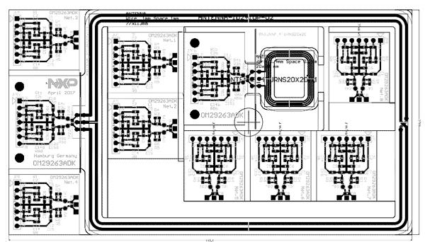 Контуры и верхний слой платы OM29263ADK