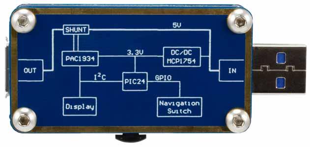 Измеритель мощности и энергии ADM00974. Вид снизу