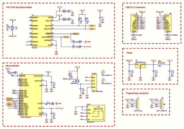 Схема принципиальная электрическая измерителя мощности и энергии ADM00974