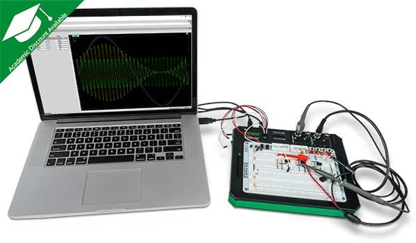 Использование Analog Discovery Studio с ноутбуком и ПО Waveforms