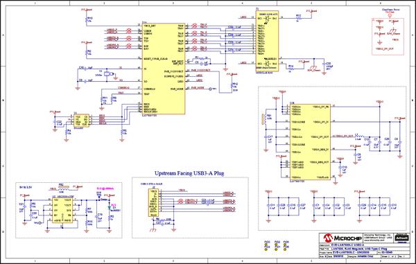 Схема принципиальная электрическая модуля EVB-LAN7800LC-1